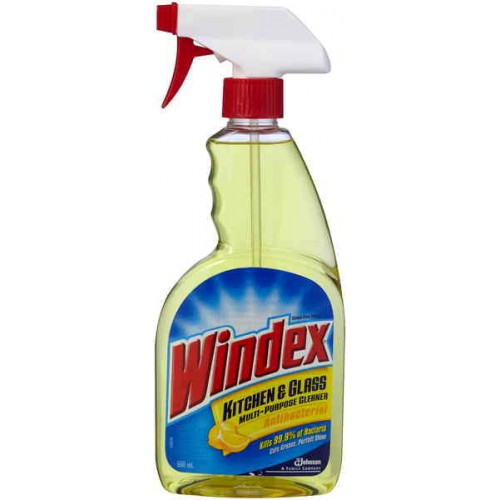 Windex kitchen glass antibacterial trigger 500ml household items cleaning products order - Cleaning products for kitchen ...