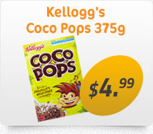 Kelloggs Coco Pops 375g for $4.99