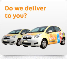Check to see where we deliver now and see where we will deliver tomorrow.