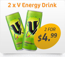 2 x V Energy Drink for $4.99